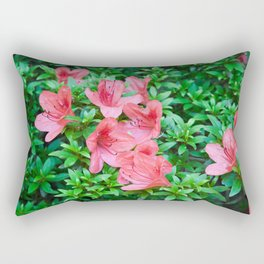 Azalea bush with Blooms Rectangular Pillow