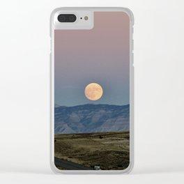 Colorado Supermoon Clear iPhone Case
