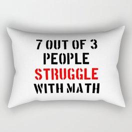Math Struggle Rectangular Pillow