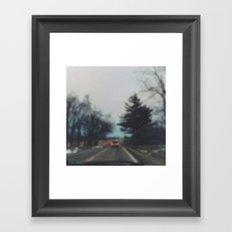 down country roads Framed Art Print