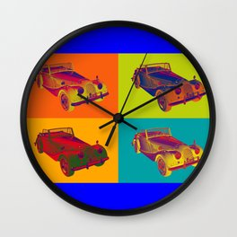 1964 Morgan Plus 4 Convertible Pop Art Wall Clock