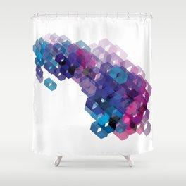 3D-blocks Shower Curtain