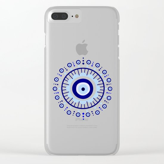 Evil Eye Flower Burst Clear iPhone Case