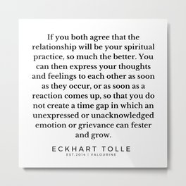 58  |Eckhart Tolle Quotes | 191024 Metal Print