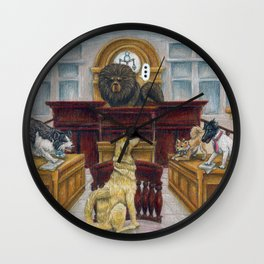A Dog Day at Court Wall Clock