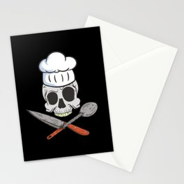 Knife Bakers Bake Hat Cupcake Baking Chef Stationery Cards