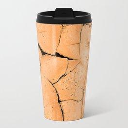 Cracked Terrain in Morocco Travel Mug