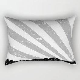 Town Silhouette Grey Grunge Rectangular Pillow