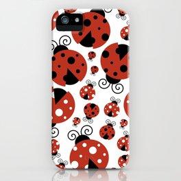 Ladybugs (Ladybirds, Lady Beetles) - Red Black iPhone Case