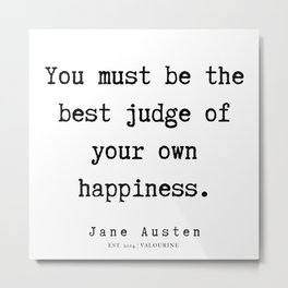 80    | Jane Austen Quotes | 190722 Metal Print