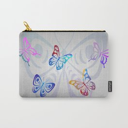 Big Butterflies with grey background Carry-All Pouch