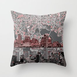 baltimore city skyline abstract Throw Pillow