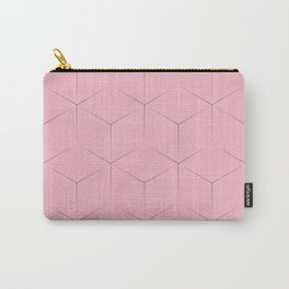 Blocks on pink background Carry-All Pouch