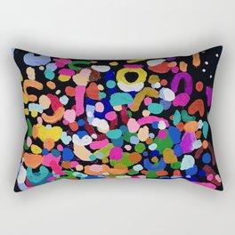 Original Abstract Painting by Ejaaz Haniff Rainbow Rain At Night Rectangular Pillow