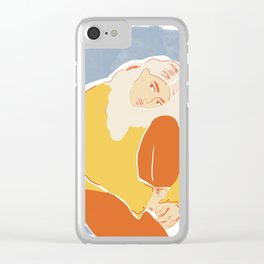 Feeling Blue Clear iPhone Case