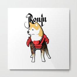 Ronin Dog Metal Print