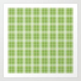 Spring 2017 Designer Colors Greenery Tartan Plaid Art Print