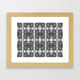 JES' PUZZLED FACE Framed Art Print
