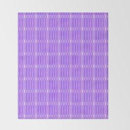 Plaid_Purple Throw Blanket