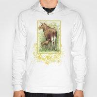 elk Hoodies featuring Elk by Natalie Berman
