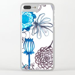 Blue-Seeded Clear iPhone Case