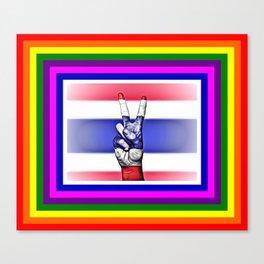 Thailand World Peace Flag Canvas Print