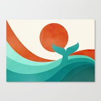 wave Canvas Prints featuring Wave (day) by Jay Fleck