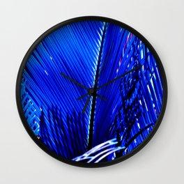 Sapphire Palm Wall Clock