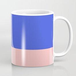 Minimalist Color Block in Bright Blue and Blush Pink Coffee Mug
