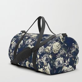 winter flowers seamless pattern 01 small foggy night Duffle Bag