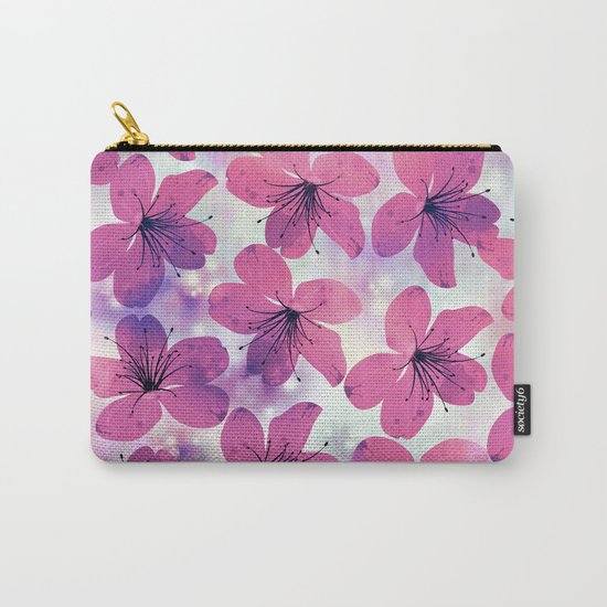 Floral Pattern B Carry-All Pouch