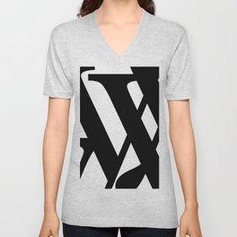 Hidden Letters. Baskerville Y Unisex V-Neck
