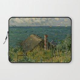 """Claude Monet """"La Cabane de Saint-Adresse"""" Laptop Sleeve"""