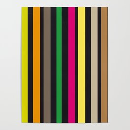 bold stripes and color Poster