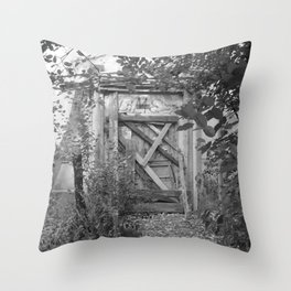 """Door to the deep down """"LIME"""" Throw Pillow"""