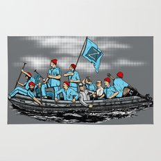 Team Zissou Crossing the Delaware Rug