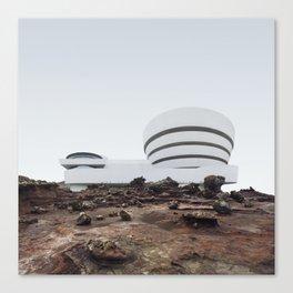 Misplaced Series - Solomon R Guggenheim Museum Canvas Print