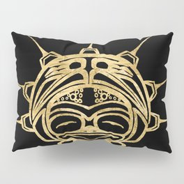 Gold Frog Ink Pillow Sham