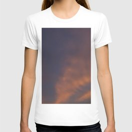 Navy and Coral Cloud Abstract, Provincetown T-shirt