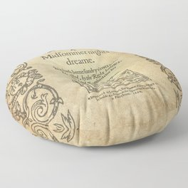 Shakespeare. A midsummer night's dream, 1600 Floor Pillow