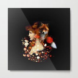 Red Haired Beauty II Metal Print