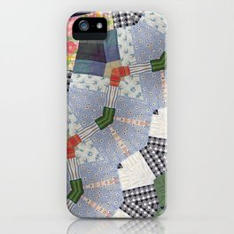 Patchwork Whimsy -- Vintage Block Quilt Mandala Kaleid0scope iPhone Case