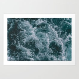 OCEAN - WAVES - SEA - WATER Art Print