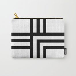 Geometric Swiss Cross Carry-All Pouch