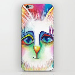 Twinkles Abstract Art Cat Painting  iPhone Skin