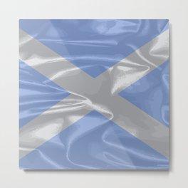 Scotland Silk Flag Metal Print