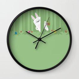 Easter Bunnyville Wall Clock