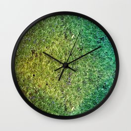 Patchwork Duckweed Wall Clock