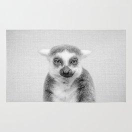 Lemur - Black & White Rug
