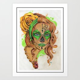 Sugar Skull Beauty Art Print